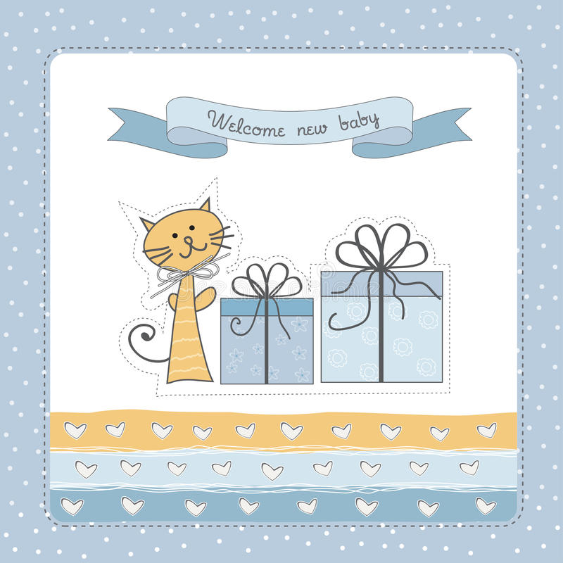 New Baby Announcement Card Royalty Free Stock Image