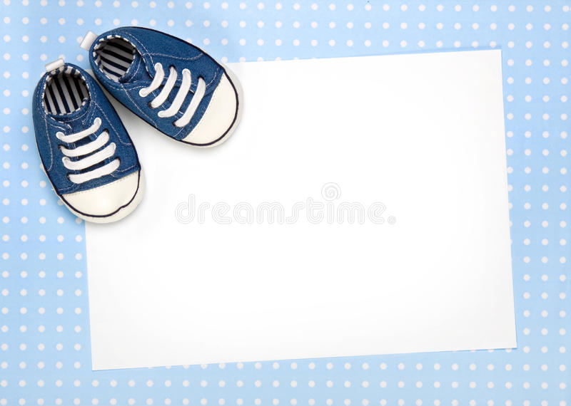 New baby announcement or invite royalty free stock images
