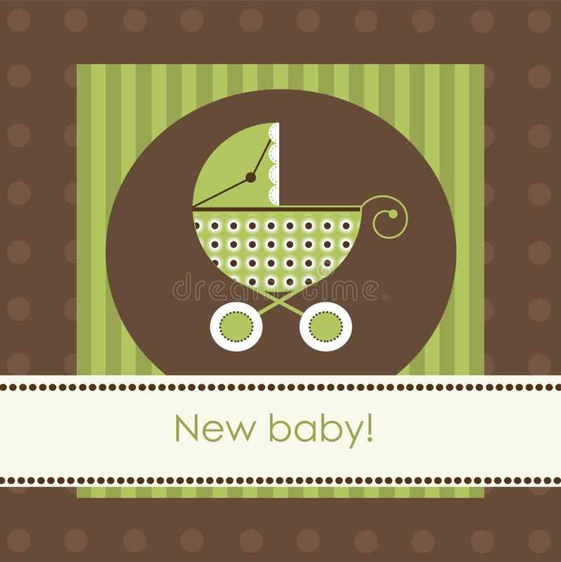 New baby arrival card vector illustration