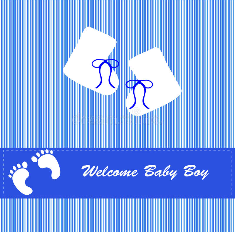 Free New Baby Boy Bootees Card Stock Image - 15236151
