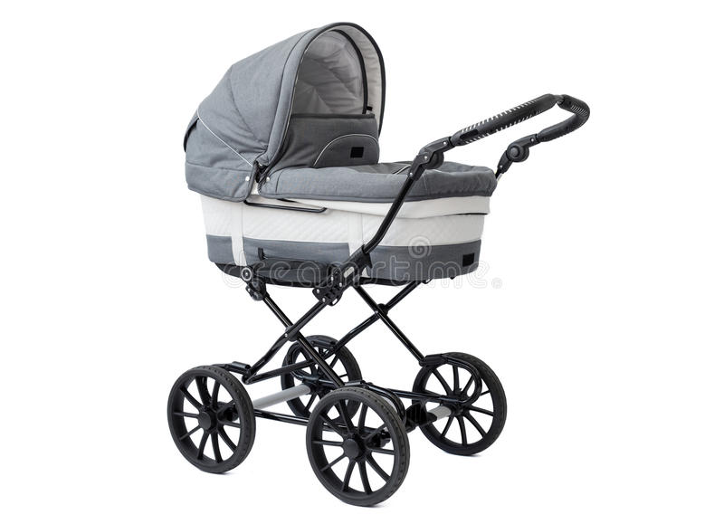 New baby carriage stock images