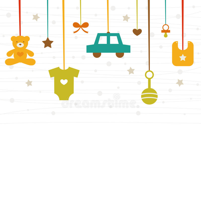 New baby icons. Vector illustration -new baby icons stock illustration