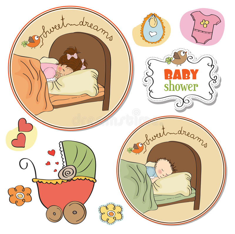 Download New Baby Items Set Stock Image - Image: 24938561