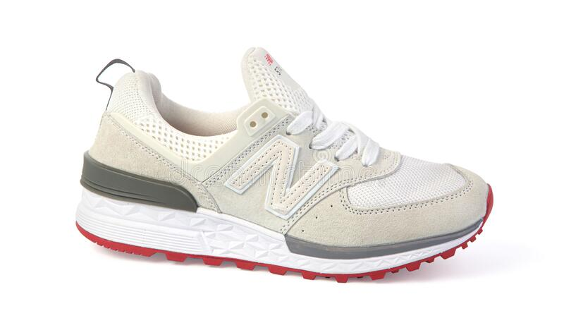 New Balance Shoes Model NB 574 White Color Editorial Image - Image ...