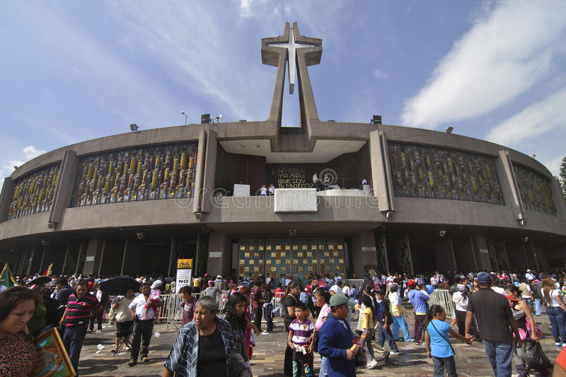 New basilica Mexico City royalty free stock photos
