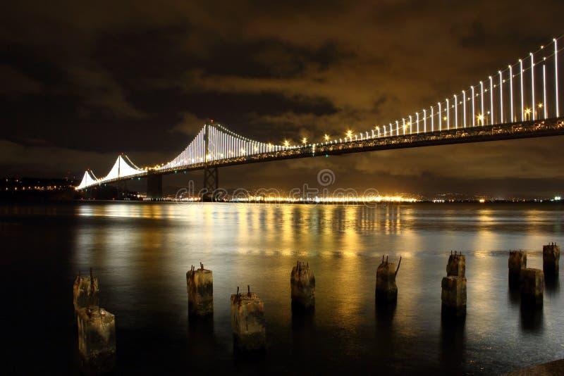 New Bay Bridge Lights stock images