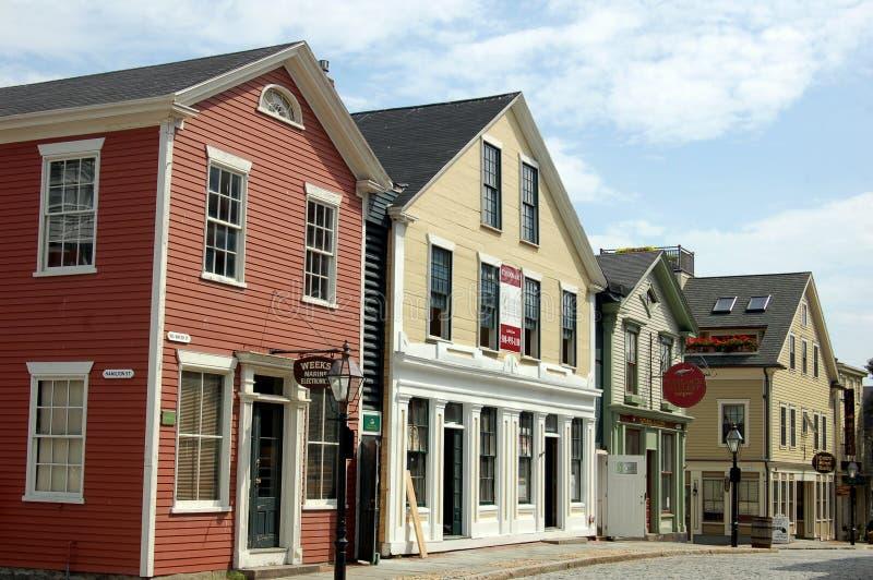 New Bedford, mA: diecinueveavo Casas del siglo fotografía de archivo libre de regalías