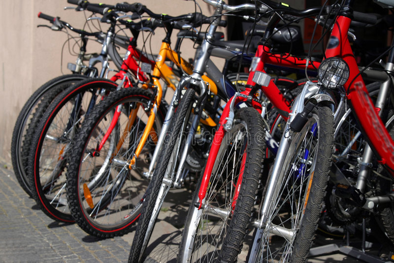 Download New Bicycles On The Street Market Stock Photo - Image: 796442