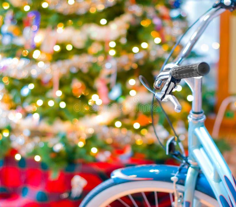 New bike at Christmas royalty free stock photography