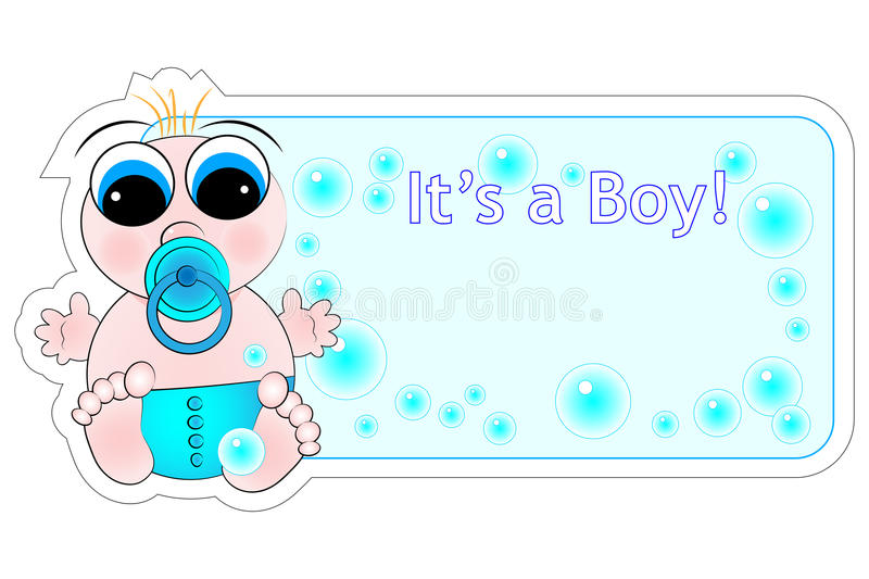 Download New Birth Label - Baby Boy stock vector. Illustration of celebrate - 10202334