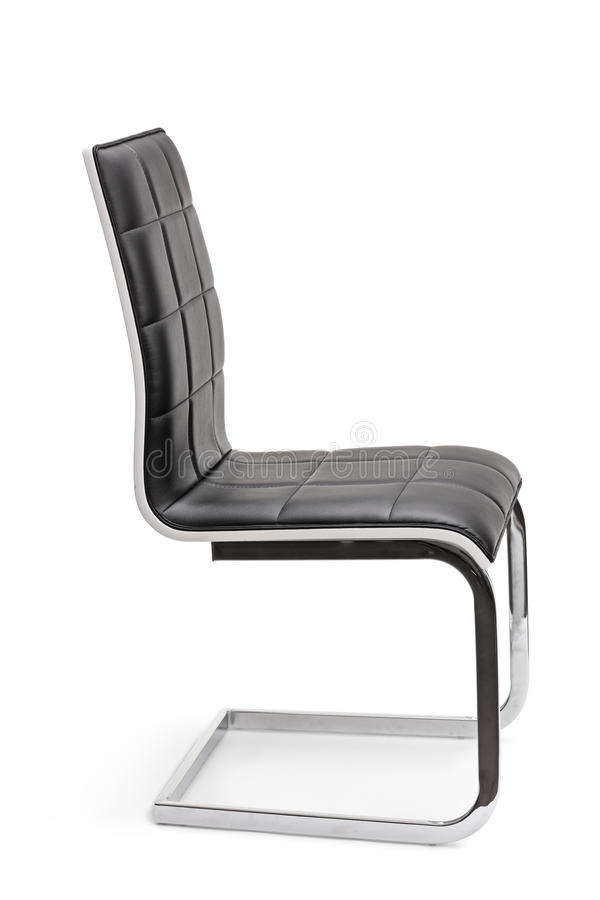 New black leather office chair stock photo