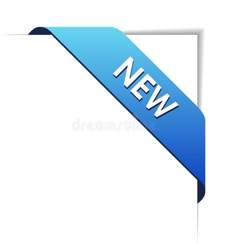 New blue corner business ribbon royalty free illustration