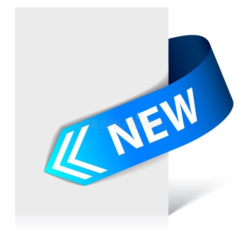 Download New blue corner ribbon stock illustration. Illustration of frame - 14856953