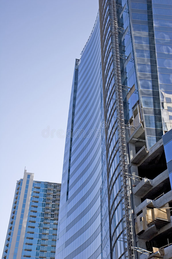 Free New Blue Curved Tower Construction Stock Photo - 5217900