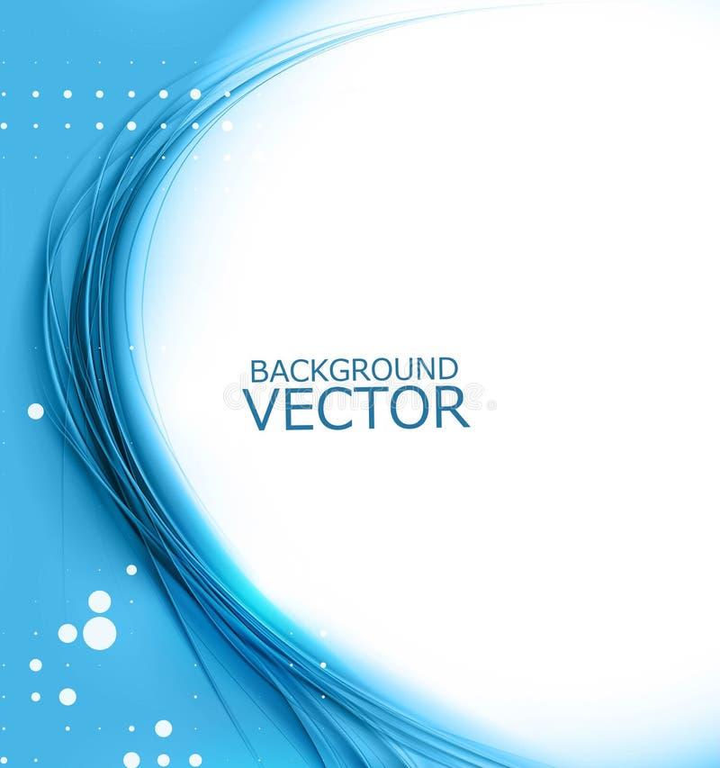 New blue shiny wave composition. Background illustration stock illustration