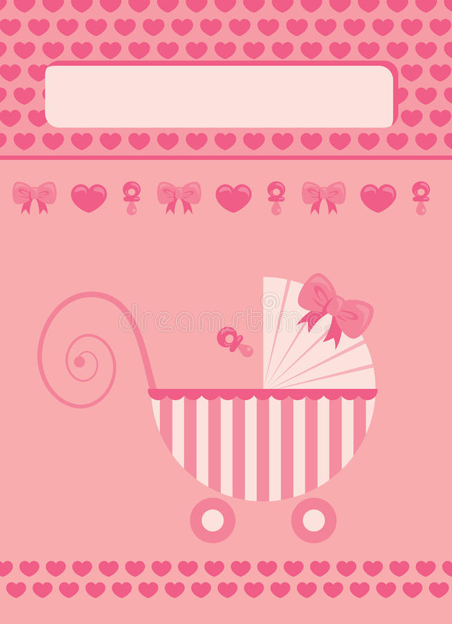 New born baby girl greeting card stock vector illustration of download new born baby girl greeting card stock vector illustration of nipple invitation m4hsunfo