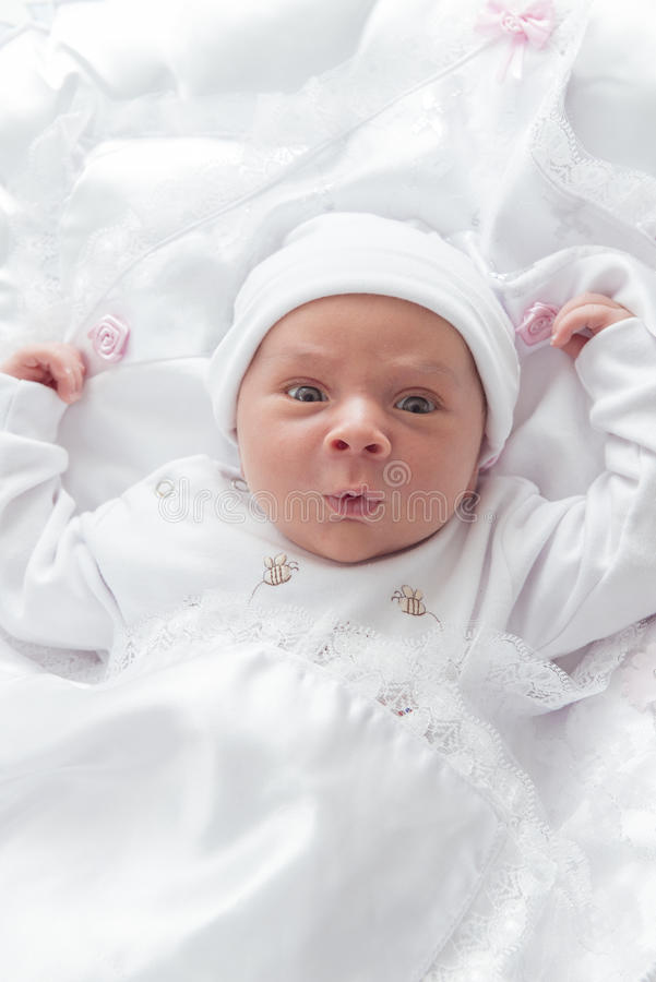 New Born Baby Looking royalty free stock images