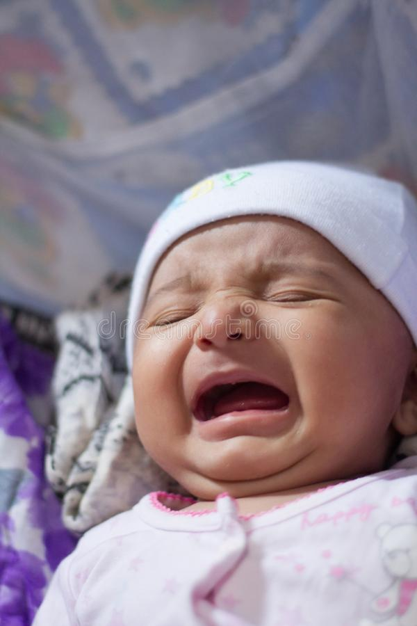 Indian Baby crying royalty free stock image
