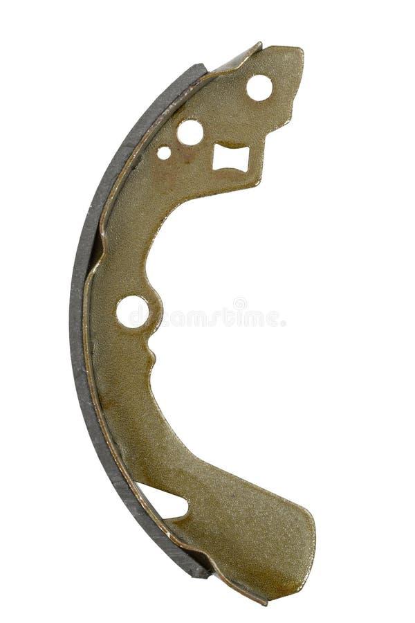 New brake pad drum brake (isolated) stock images
