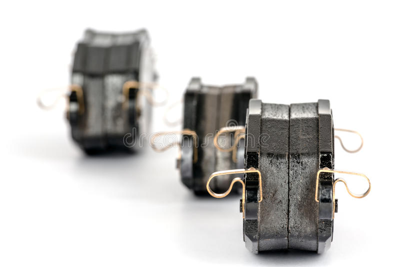 Brake pad sets. New brake pad sets for the automotive industry royalty free stock image