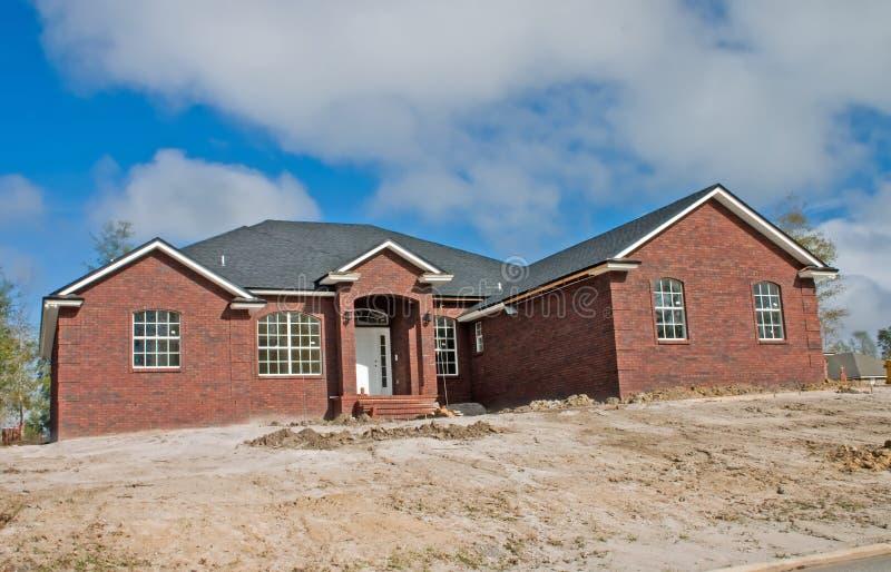 New brick home royalty free stock photos