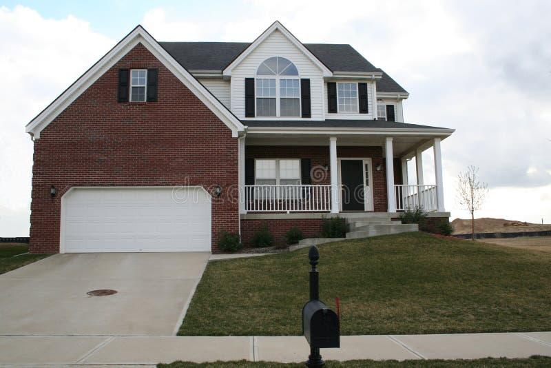 New brick home stock photos