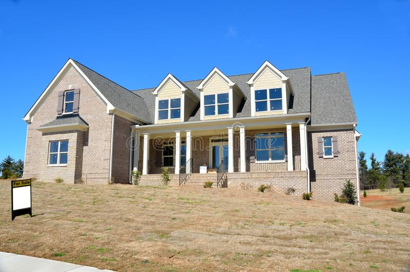 New brick home for sale in Georgia royalty free stock images