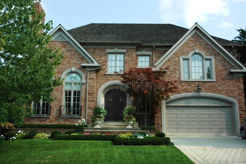 Download New Brick House stock image. Image of window, nature, shrub - 1523789