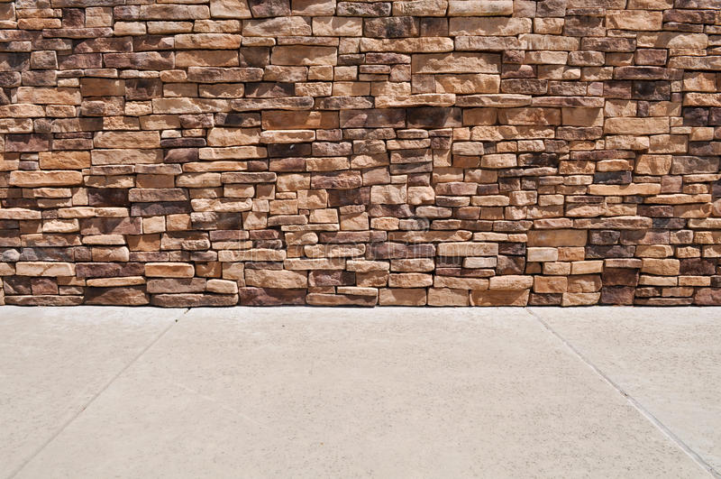 New Brick Wall Sidewalk stock images