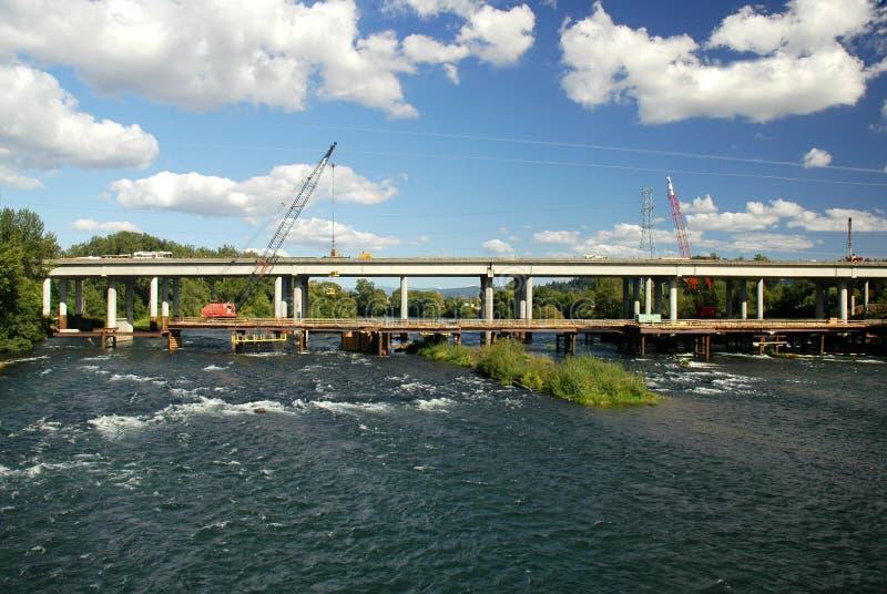 Download New Bridge Construction stock image. Image of heavy, repairing - 10840229