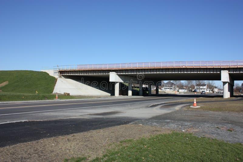 New bridge construction. stock photo