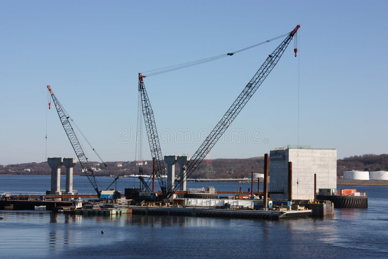 New bridge construction. stock photos