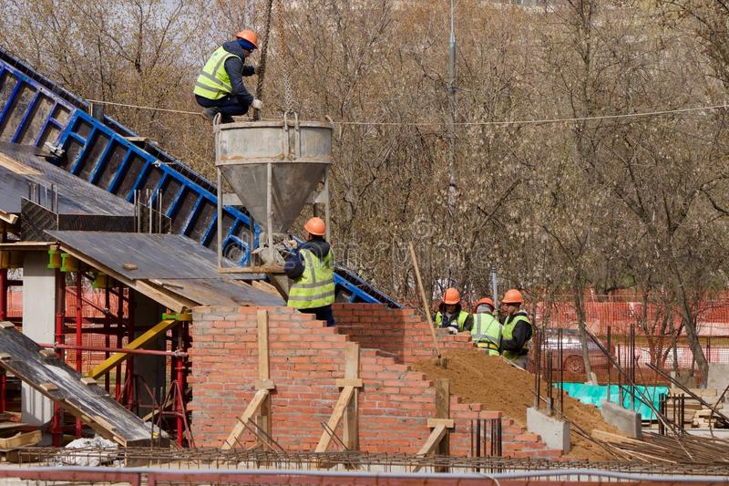 New bridge construction royalty free stock photo