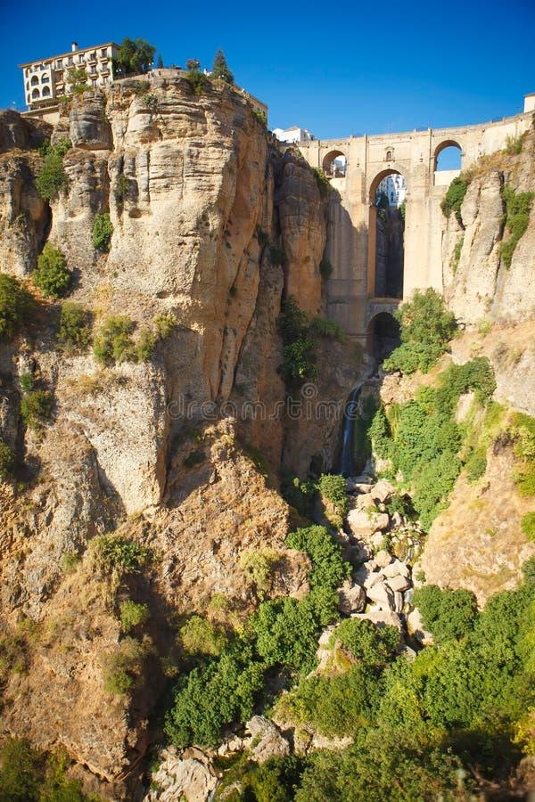 New bridge in Ronda, Spain royalty free stock photo