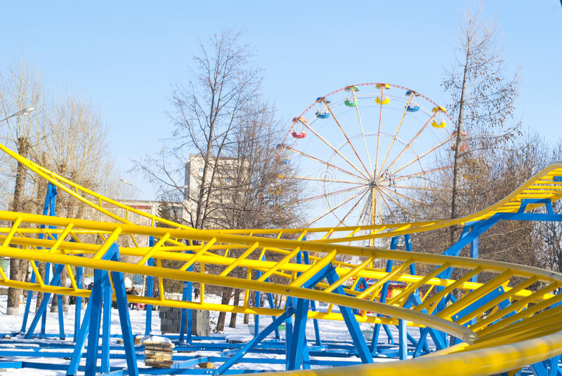Download New Bright Roller Coaster In Winter Park Stock Photo - Image: 23566944