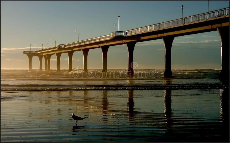 New Brighton Pier stock photo