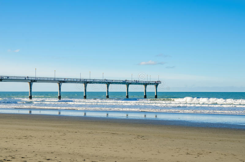 New Brighton Pier in Christchurch. New Zealand stock photos
