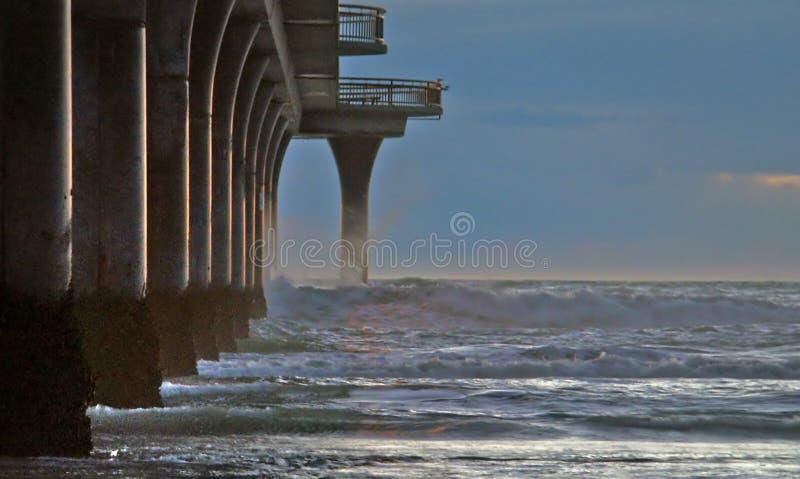 New Brighton Pier. NZ royalty free stock photography