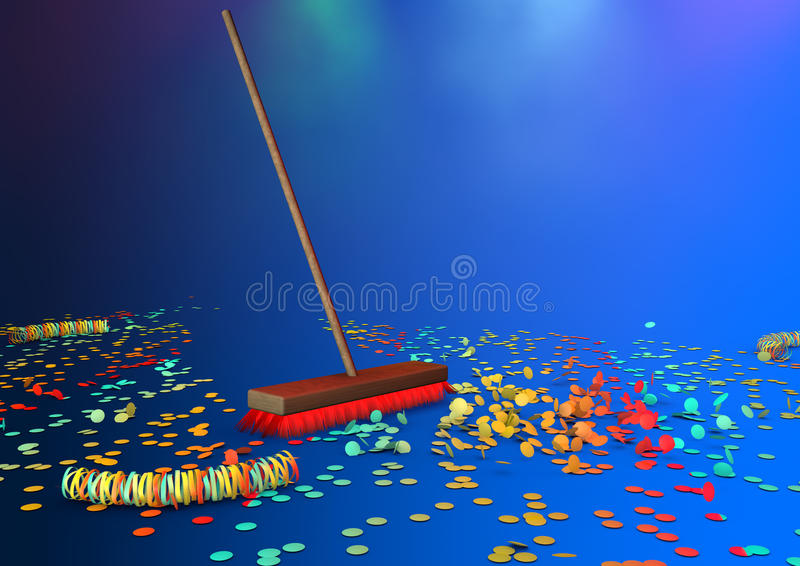 Download New brooms sweep clean stock illustration. Illustration of broom - 29006795