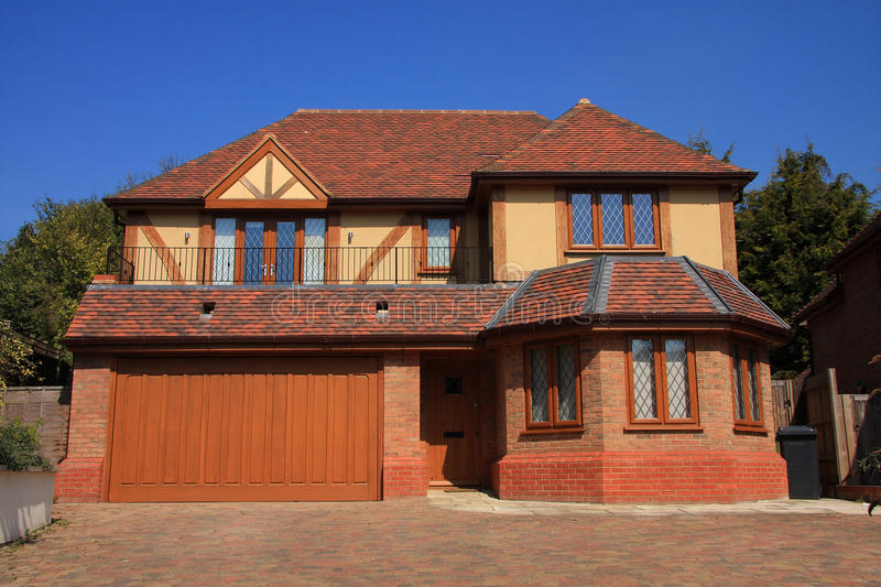 New Build Home. Newly finished detached family home royalty free stock photo