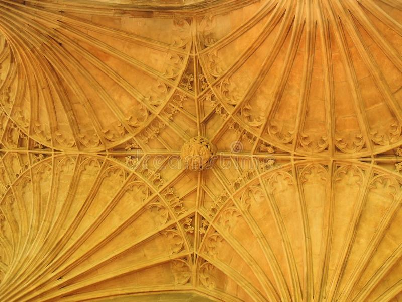 New Building Ceiling, Peterborough Cathedral stock photography