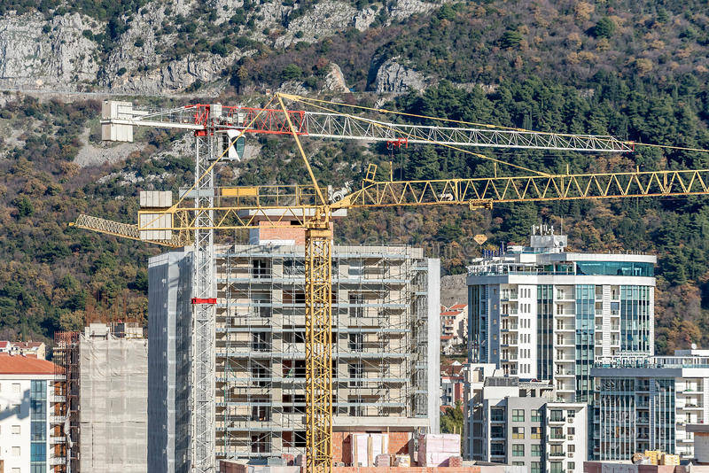 New building construction site in Budva, Montenegro royalty free stock photos