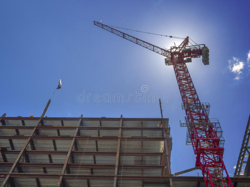 New building construction site stock photo
