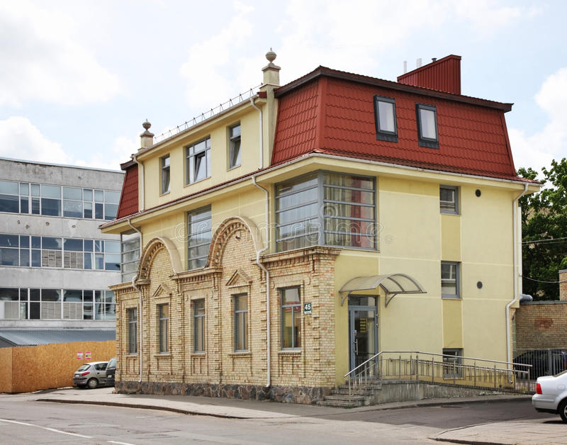 New building in Siauliai. Lithuania.  stock photos