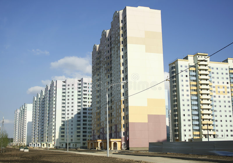 New buildings. Are in the new district of Moscow stock photo