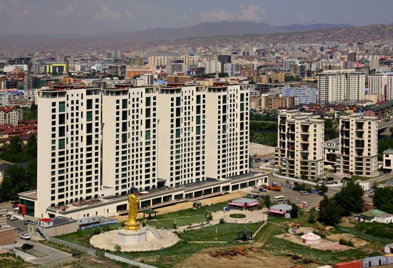 New buildings in the capital city Ulaanbaatar,Mongolia stock photos