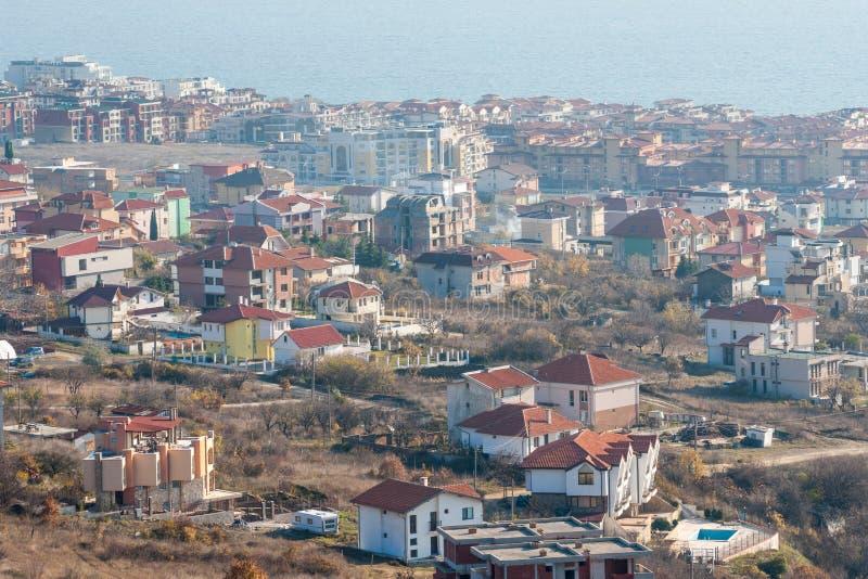 New buildings in Sveti Vlas, Bulgaria stock photos