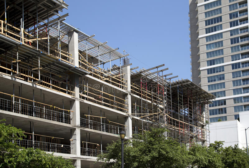 New buildings under development in modern city stock photography