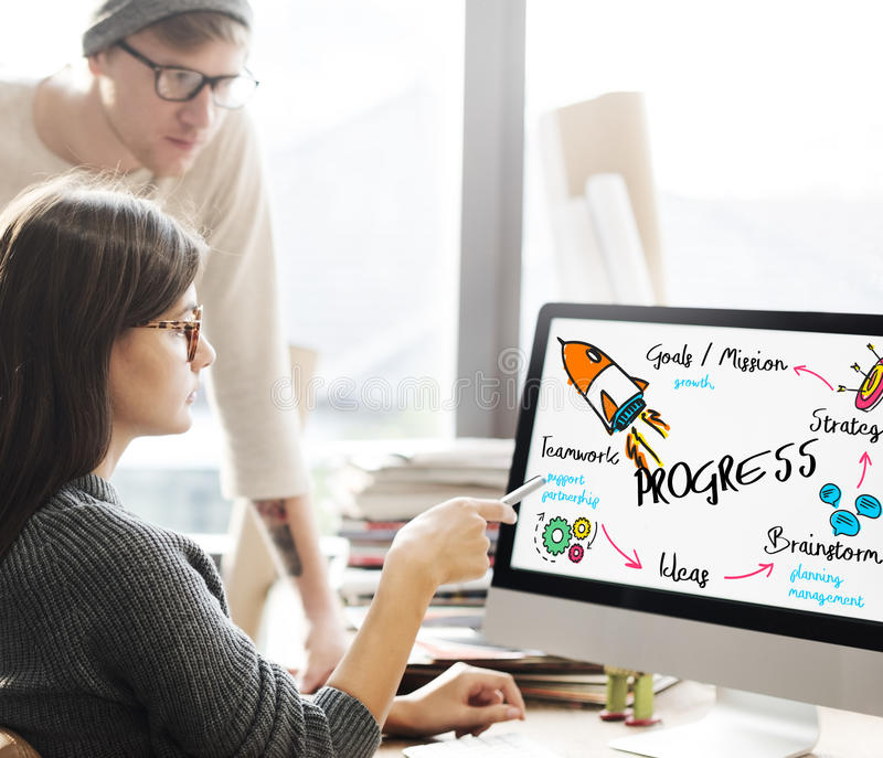 New Business Achievement Organization Progress Concept stock photography