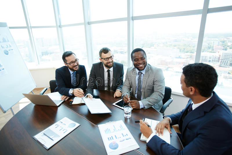 New business partner stock photography